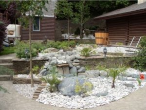gravel and rock landscaping