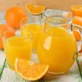 drinking orange juice