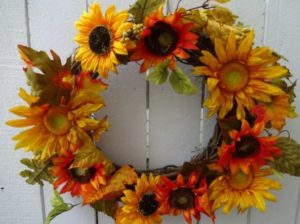 natural wreaths Sunflower
