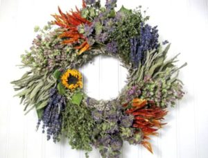 natural wreaths bedroom