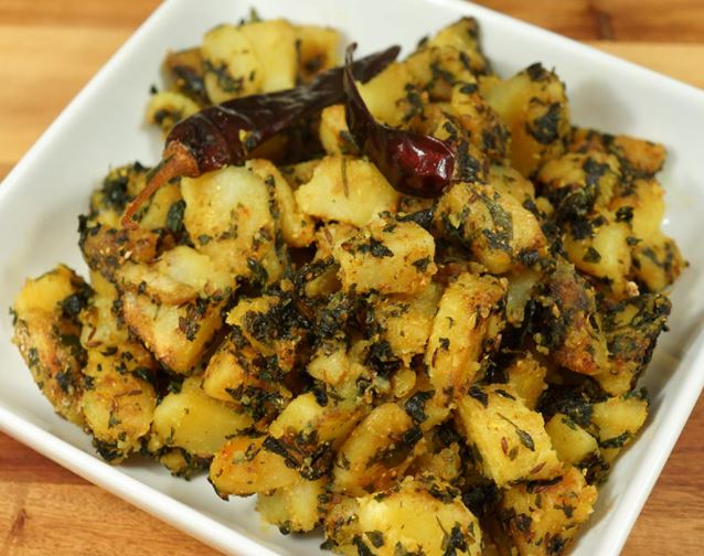 Potatoes and Fenugreek Leaves